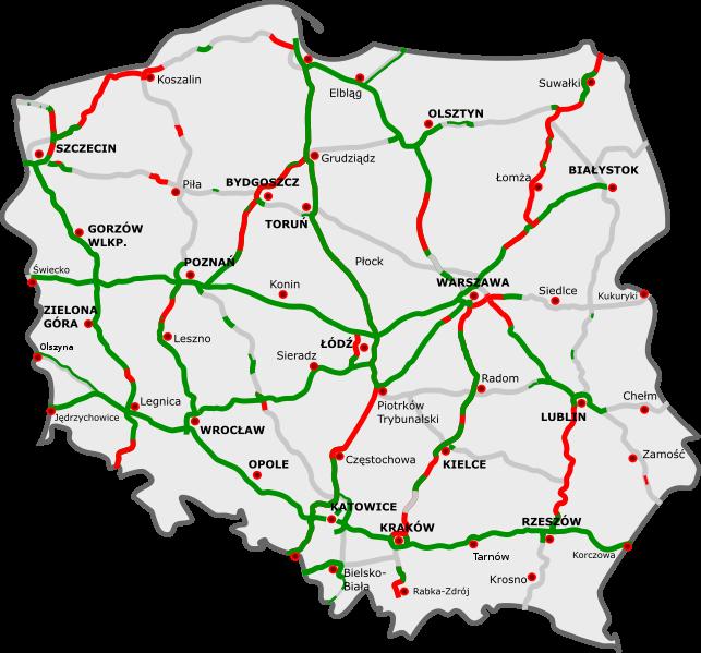 lengyel autópályák